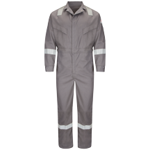 Deluxe Coverall with Reflective Trim - EXCEL FR® ComforTouch® - 7 OZ.