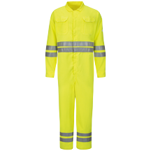 Hi-Vis Deluxe Coverall with Reflective Trim - CoolTouch® 2 - 7 oz.