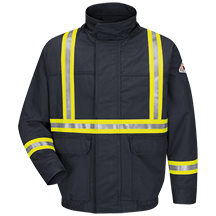Lined Bomber Jacket with CSA Compliant Reflective Trim - EXCEL FR® ComforTouch®