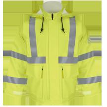 Hi-Visibility Flame-Resistant Rain Jacket HRC2