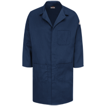Concealed Snap Front Lab Coat - EXCEL FR® ComforTouch® - 6 oz.