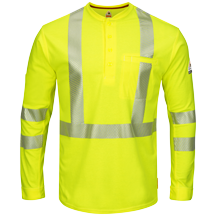 iQ Series® Comfort Knit ANSI Hi-Visibility Long Sleeve Henley