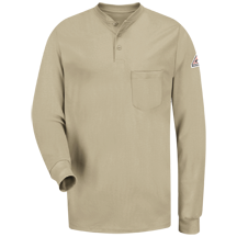 Long Sleeve Tagless Henley Shirt - EXCEL FR&#174;