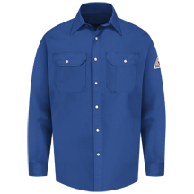 Snap-Front Uniform Shirt - EXCEL FR&#174; - 7 oz.