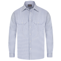 Striped Uniform Shirt - EXCEL FR&#174; - 7 oz.