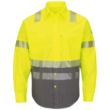 Hi-Visibility Color Block Uniform Shirt - EXCEL FR® ComforTouch® - 7 oz.