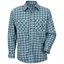 Plaid Uniform Shirt - EXCEL FR® ComforTouch® - 6.5 oz.