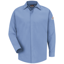 Concealed-Gripper Pocketless Shirt -EXCEL FR® ComforTouch® - 7 oz.