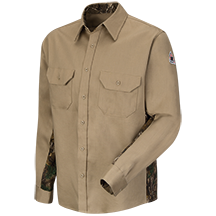 Camo Uniform Shirt - EXCEL FR® ComforTouch® - 6 oz.