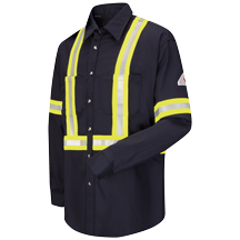 Dress Uniform Shirt with CSA reflective trim - EXCEL FR® ComforTouch® - 7 oz.
