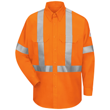 Hi-Visibility Work Shirt With CSA Compliant Reflective Trim - EXCEL FR® ComforTouch® - 6 oz.