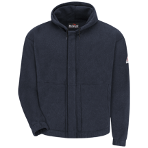Zip-front Hooded Sweatshirt - Modacrylic Fleece