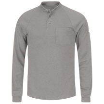 Long Sleeve Henley Shirt- CoolTouch®2