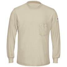 Long Sleeve Khaki Lightweight T-Shirt
