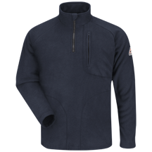 ¼ Zip-Front Modacrylic Fleece Sweatshirt