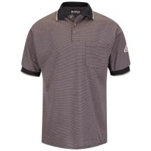 Short Sleeve Striped Polo - Nomex® IIIA