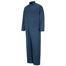 Button-Front Crew Coverall