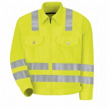 Product Shot - Hi-Visibility Ike Jacket - Class 3 Level 2 &quot;X&quot; Striping Configuration