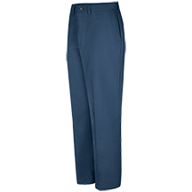 Plain Front Cotton Pant