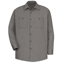 Long Sleeve Wrinkle-Resistant Cotton Work Shirt