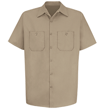Short Sleeve Wrinkle-Resistant Cotton Work Shirt