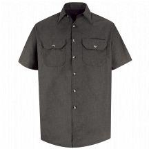 Product Shot - Men&#39;s Heathered Poplin Uniform&#160;Shirt
