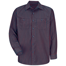Long Sleeve Industrial Stripe Work Shirt