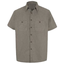 Men's Microcheck Uniform Shirt