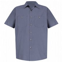 Product Shot - Men&#39;s Geometric Micro-Check Work Shirt