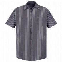 Product Shot - Men&#39;s Industrial Stripe Work Shirt