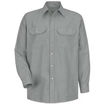 Long Sleeve Solid Dress Uniform Shirt