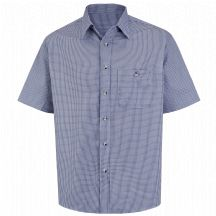 Product Shot - Men&#39;s Mini-Plaid Uniform Shirt