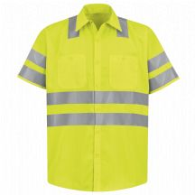 Product Shot - Hi-Visibility Work Shirt - Class 3 Level 2 &quot;X&quot; Striping Configuration
