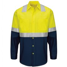 8f950d6f00c Hi-Visibility Long Sleeve Colorblock Ripstop Work Shirt - Type R