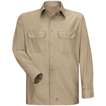 Long Sleeve Solid Rip Stop Shirt