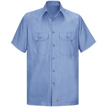 Short Sleeve Solid Rip Stop Shirt