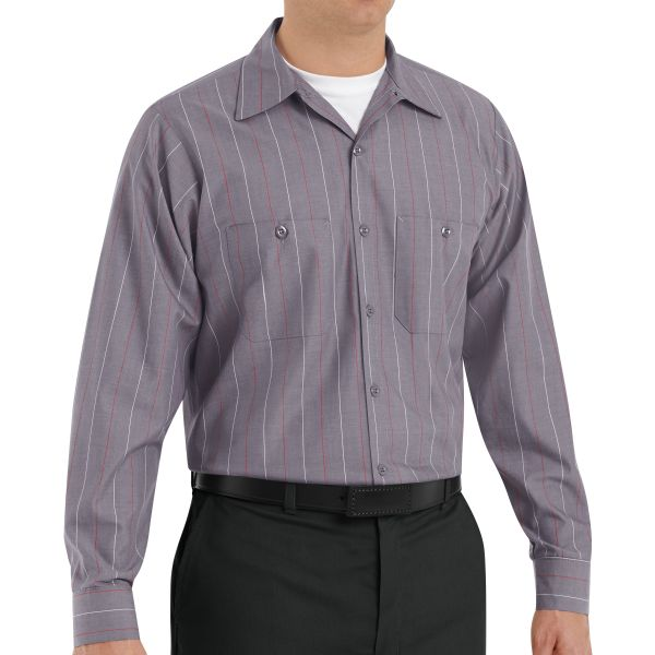 9fb7a0e75 Men's Striped Auto Work Shirt | Red Kap Automotive Uniforms