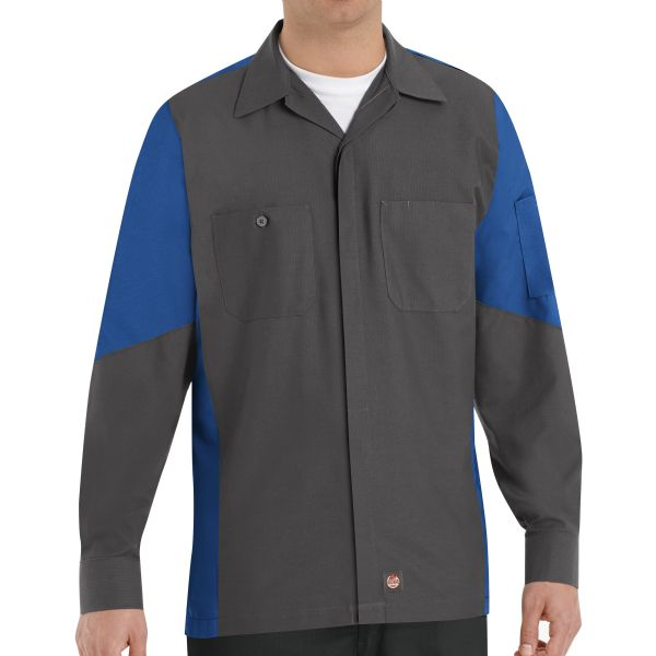 Workwear uniforms red kap done right products crew shirt for Red kap mechanic shirts