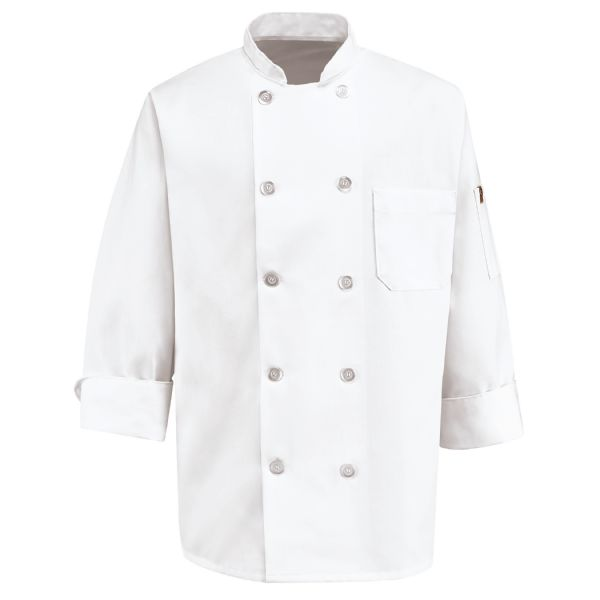 Men's Ten Pearl Button Chef Coat