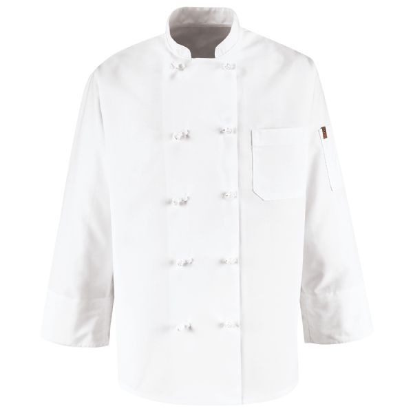 Ten Knot Button Chef Coat