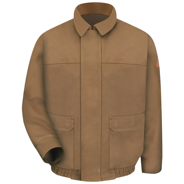 Brown Duck Lined Bomber Jacket -  EXCEL FR® ComforTouch®