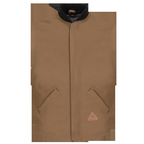 Brown Duck Vest Jacket Liner - EXCEL FR® ComforTouch®