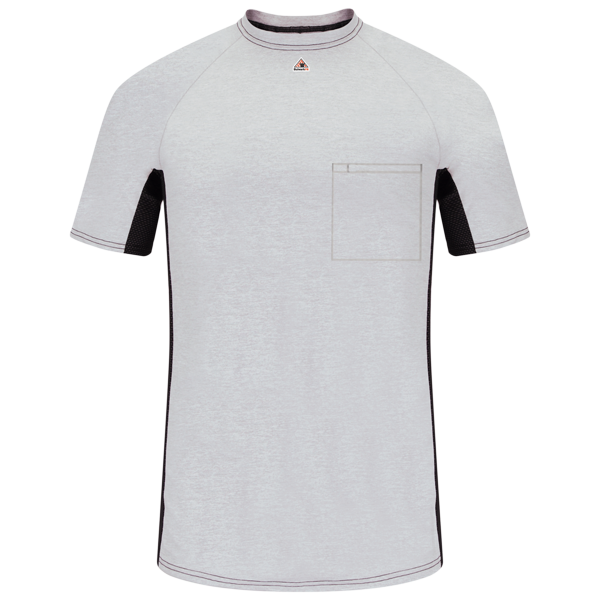 Short Sleeve FR Two-Tone Base Layer with Concealed Chest Pocket- EXCEL FR®