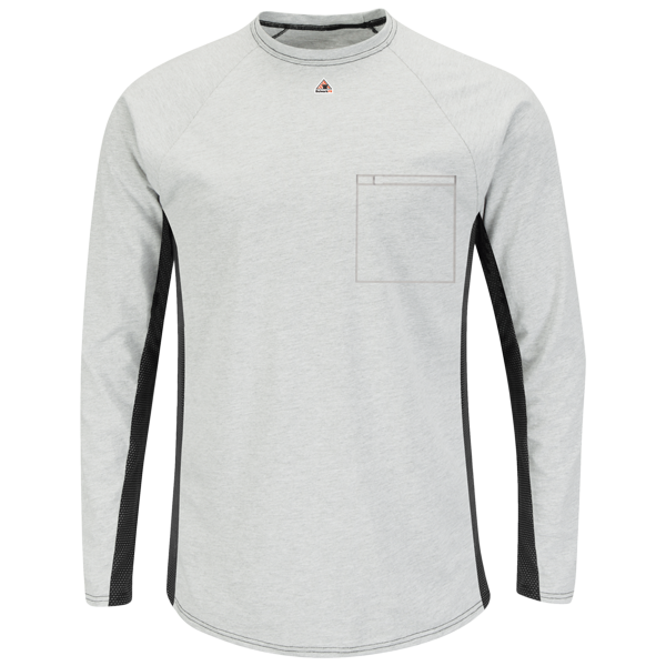 Long Sleeve FR Two-Tone Base Layer with Concealed Chest Pocket - EXCEL FR®