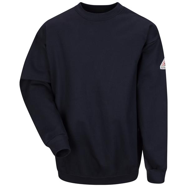 Pullover Crewneck Sweatshirt - Cotton/Spandex Blend