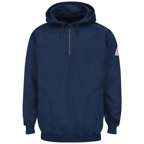 FR Pullover Hooded Fleece Sweatshirt w/ 1/4 Zip | Bulwark®