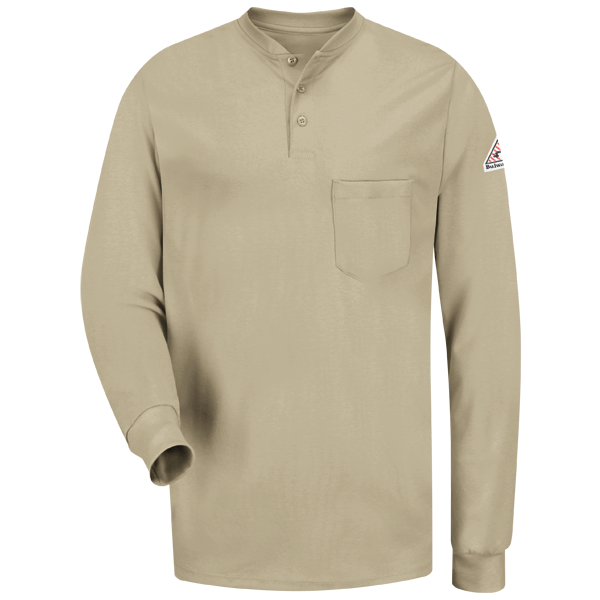 Long Sleeve Tagless Henley Shirt - EXCEL FR®