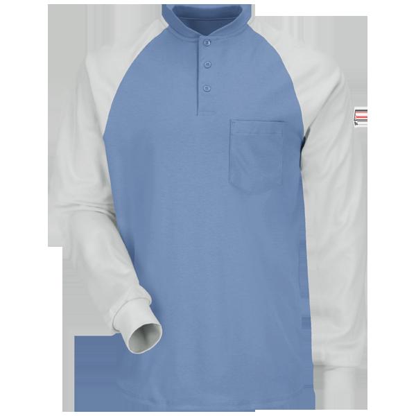 Long Sleeve Color-BlockTagless Henley Shirt - EXCEL FR®