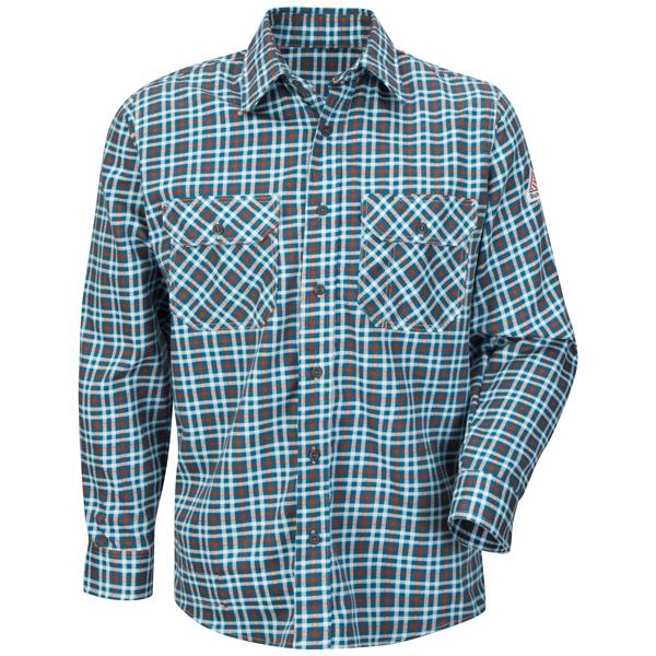 Plaid Uniform Shirt - EXCEL FR® ComforTouch® - 6.5 oz.