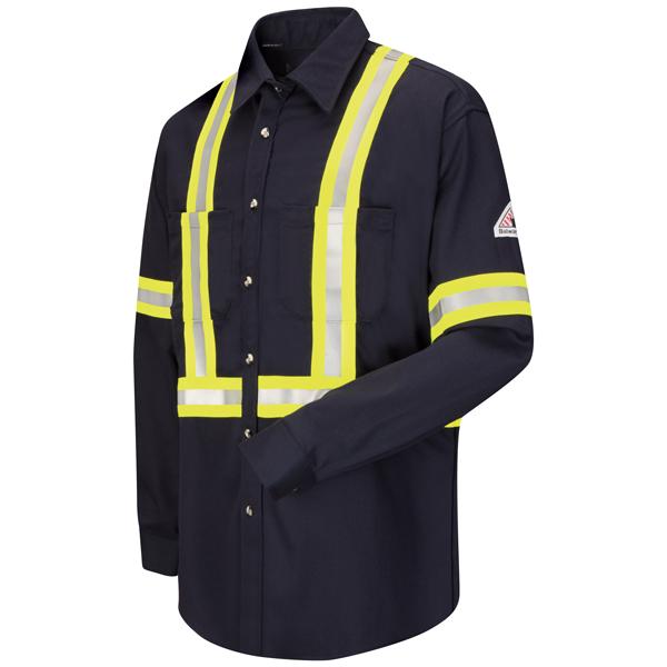 Dress Uniform Shirt with CSA reflective trim - EXCEL FR® ComforTouch® - 7 oz.